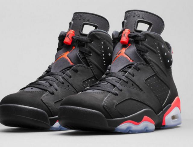 Jordan 6 Infrared Black size 10