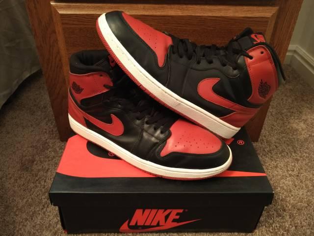 Mens Nike Air Jordan 1 Retro High OG Sz 12 2013 555088-023  92fe21484