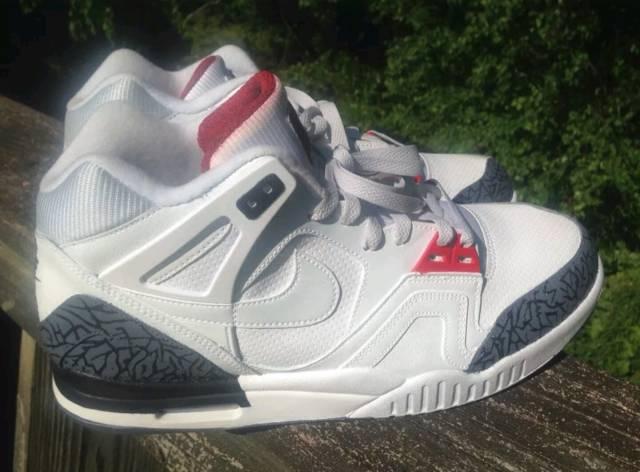 2b9f1a30d87496 Nike Air Tech Challenge 2 White Cement 3 Custom