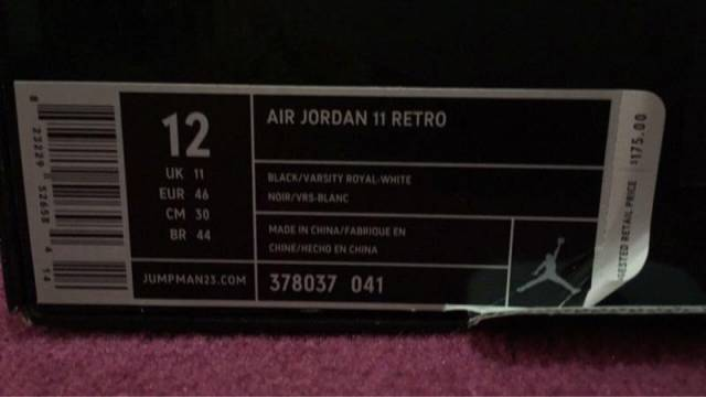 air jordan sz 12