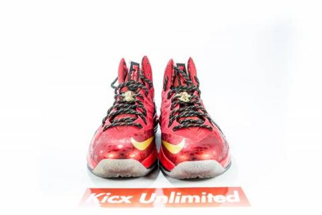 LEBRON 10 P.S. ELITE CHAMPIONSHIP PACK Sz 9.5 RED DS ...