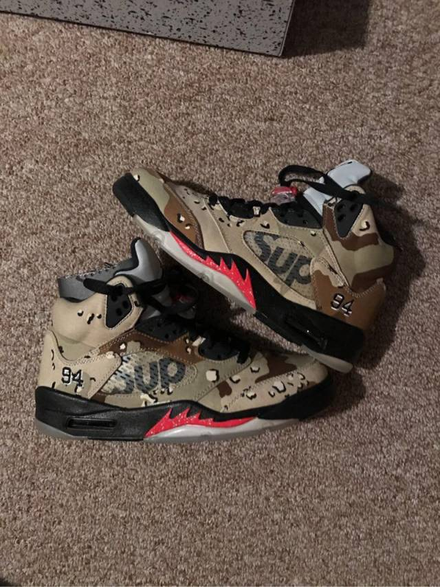 air jordan retro 5 supreme camo