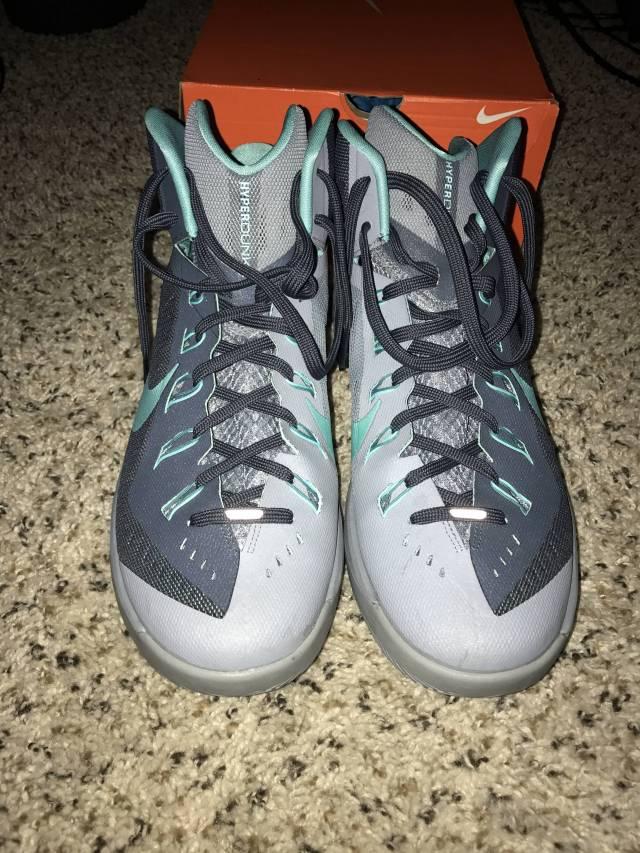 Nike Hyperdunk 2014 - Dark Magnet Grey / Hyper Turquoise ...