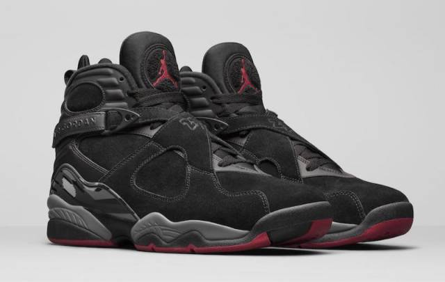 Authentic Air Jordan 8 Cement Black Gym Red Black Wolf Grey 305381-022 Basketball Shoe