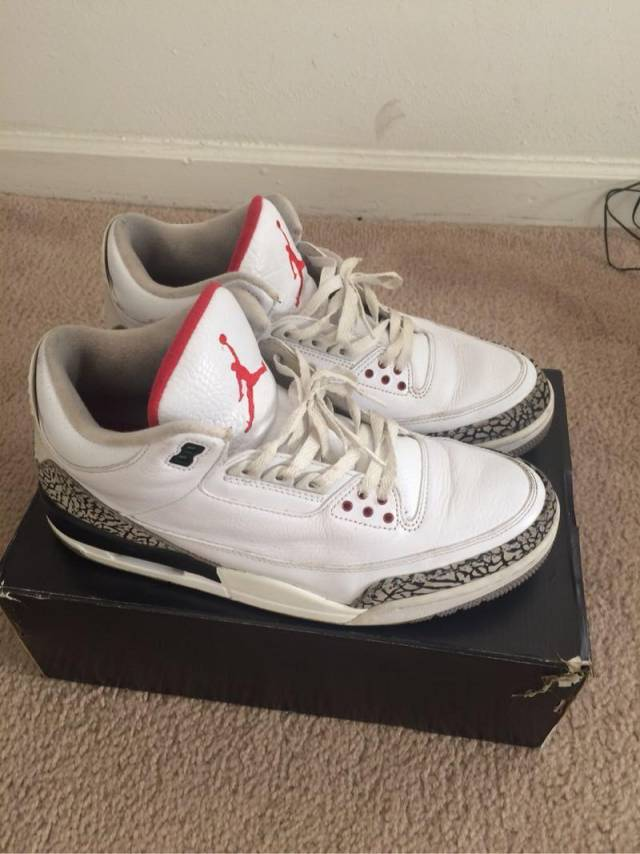 official photos 75c26 26aed Air Jordan 3 Retro 88 - White / Cement Size 10.5