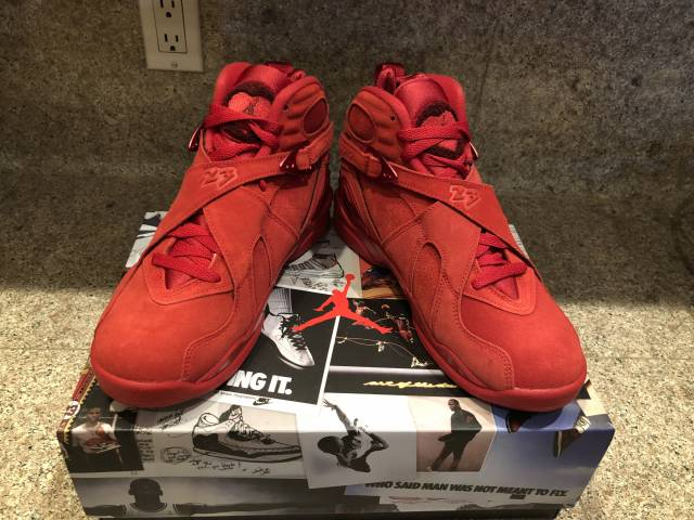 buy popular 3e09e be3ce Womens Air Jordan 8 Valentine's Day 7.5w Yeezy Cement Dunk Size 7.5