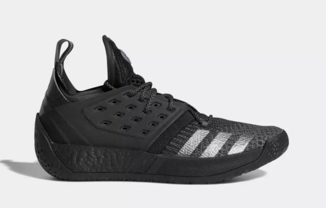 NEW ADIDAS HARDEN VOL. 2 Black / Grey / Iron Metallic F34361 Basketball Shoes a1