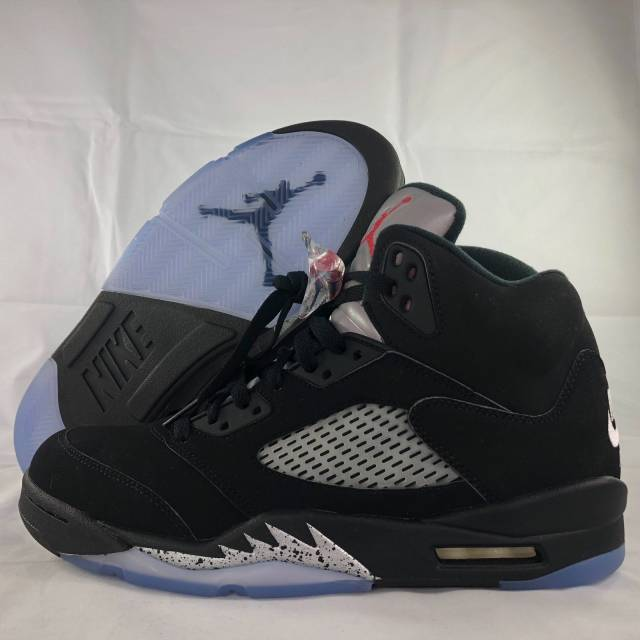 low priced 8e941 05dd2 Nike Air Jordan 5 V Retro OG Metallic Silver Black Fire Red 845035-003  Men s 10