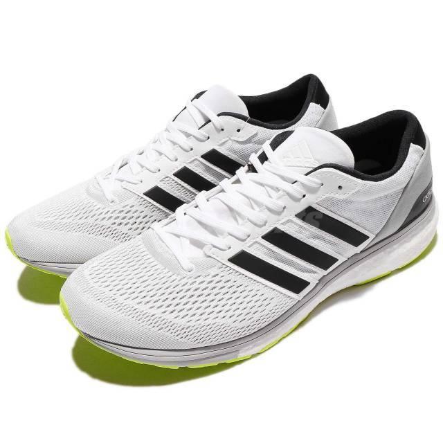 adidas adizero boston 6 m bianco nero - verde impulso uomini scarpe da corsa