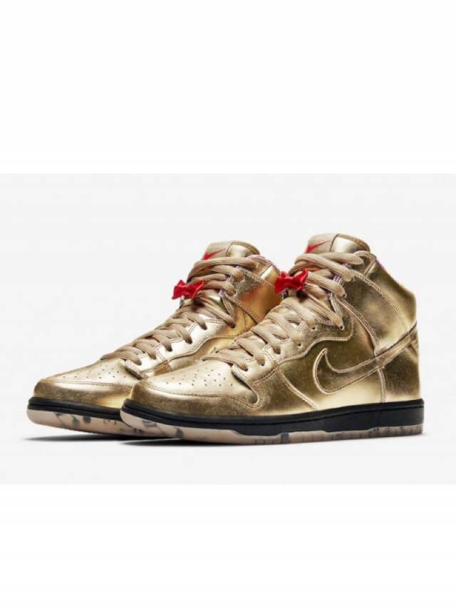 outlet store a854e 4c3cb Nike SB Dunk High Trumpet x HUMIDITY Gold w Receipt Size 4-15