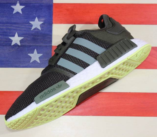 6695e39efbdcc Adidas Originals NMD R1 Boost Men s Training Shoe Night-Cargo Green White  CQ2414