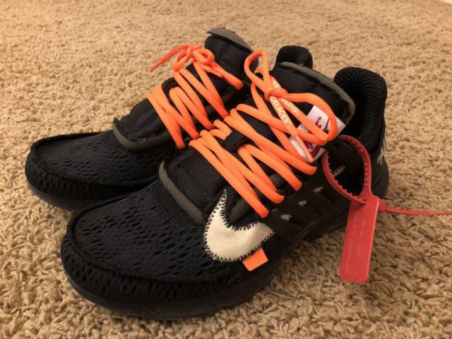 on sale 95dcb 49c95 Off-white X Nike Air Presto Black