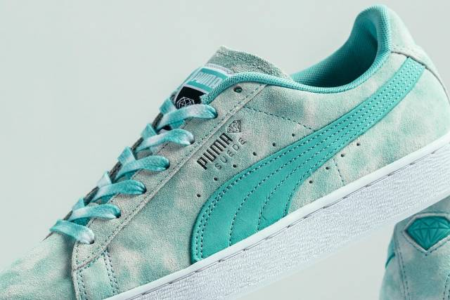 newest f0304 77735 Puma Suede X Diamond Supply Co. (diamond Blue/ Ocean Bl...
