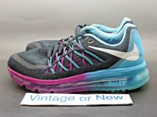 Women's Nike Air Max 2015 Black White Clearwater Runnin