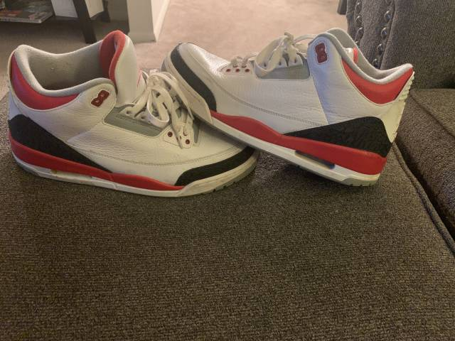 fire red 3s