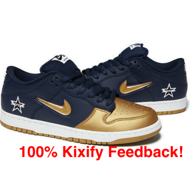 outlet store 0cf16 263ee Supreme X Nike Sb Dunk Low Metallic Gold