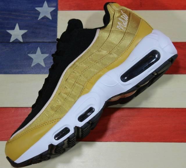 Nike Air Max 95 Lx Women Running Shoes Wheat Gold Black