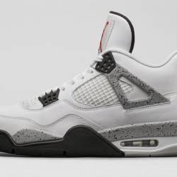 Nike air jordan iv 4 white cem...