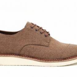 Toms brogue - brown chambray