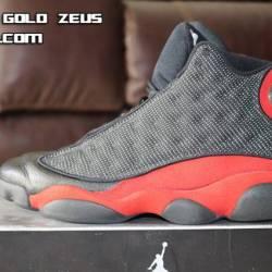 Jordan 13 black  red