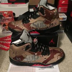 Ds air jordan retro v 'supreme...