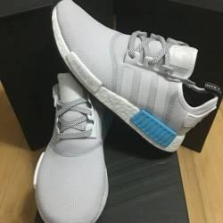 Adidas nmd r_1 white blue brig...