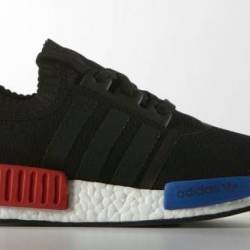 Adidas nmd og black red blue