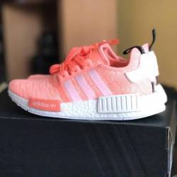 Adidas nmd r1 sun glo pink & w...