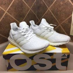 Ultra boost w all white size 9