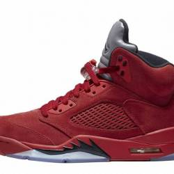 Air jordan 5 retro red suede (...