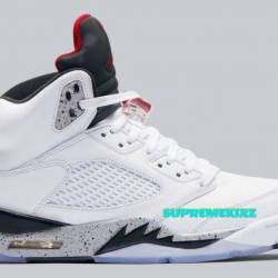Air jordan v white cement