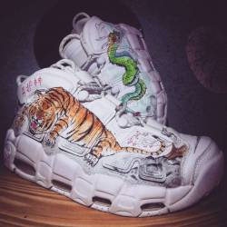 Nike air more uptempo triple w...