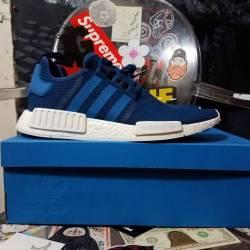 Adidas nmd r1 blue white sz 12