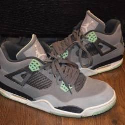 Nike air jordan 4 green glow s...