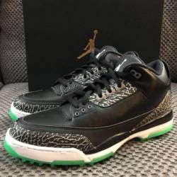 Air jordan 3 golf shoe black/g...