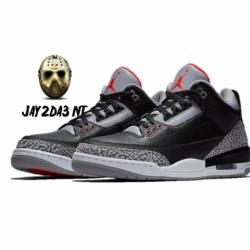 Nike air jordan 3 2018 black c...