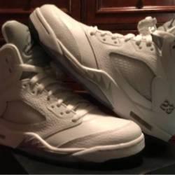 "Air jordan retro 5 ""white/me..."