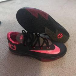 Nike kd vi - black/atomic pink