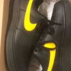 Nike air force 1 black/yellow