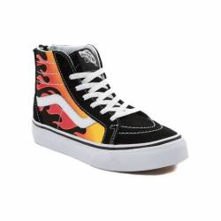 New youth vans sk8 hi flames s...