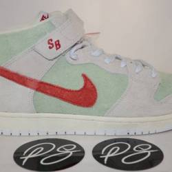 Nike sb dunk mid white widow d...