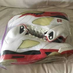 Air jordan 5 fire red (black t...