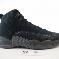 Air jordan 12 retro ovo black ...