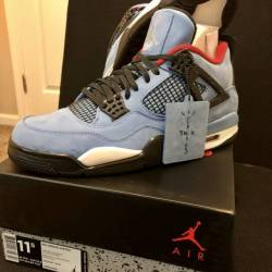 Air jordan retro 4 x travis sc...