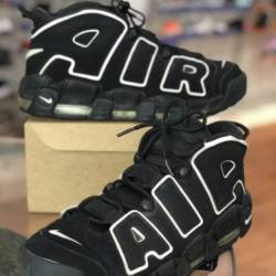 Nike air more uptempo black an...