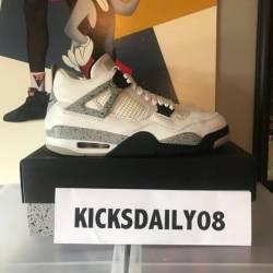 Jordan 4 white cement size 10....