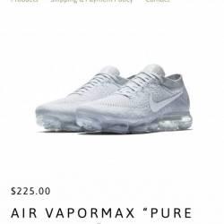 Air vapormax flyknit pure plat...