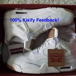 Levis x air jordan 4 white denim