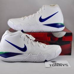 Kyrie 4 white deep royal blue ...