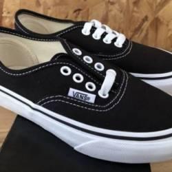 Vans kids authentic black whit...